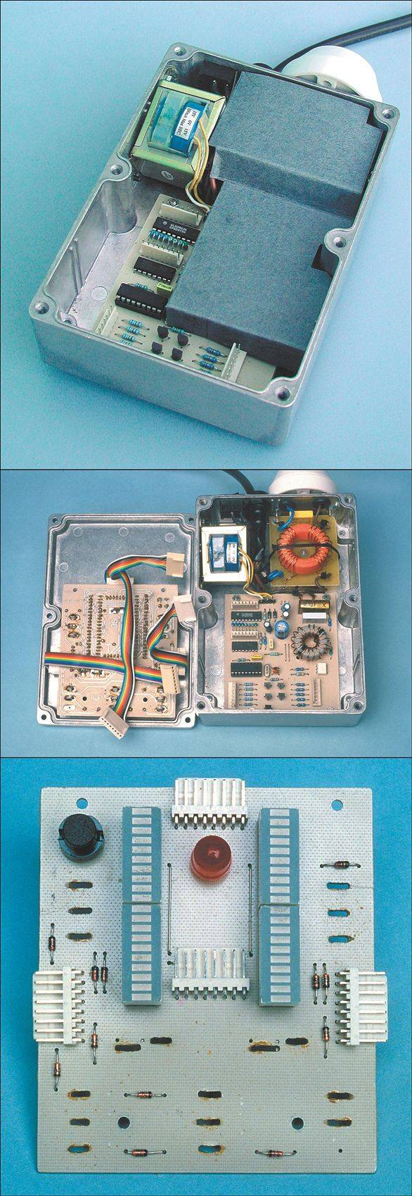 Two Channel Dimmer Circuit with PIC16F84A LED Level indicator dimmer circuit