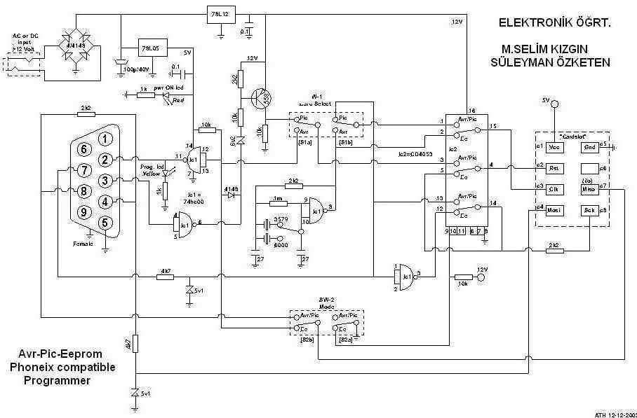 Circuit diagram Sim card copy