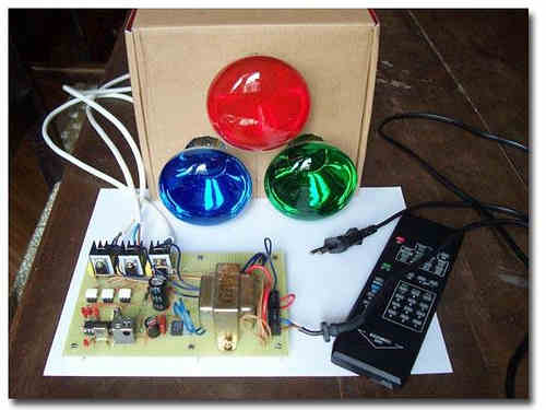 PIC16F827  Remote Controlled RGB Light Bulbs Lamp Project pic16f627a rgb moc3020 bt137