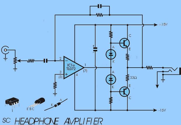 DCTC preamplifier mạch-Schema
