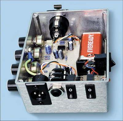 Balance  Controlled Microphone Preamplifier Circuit (+3 Band Equaliser)  tl072 mikrofon preanfi