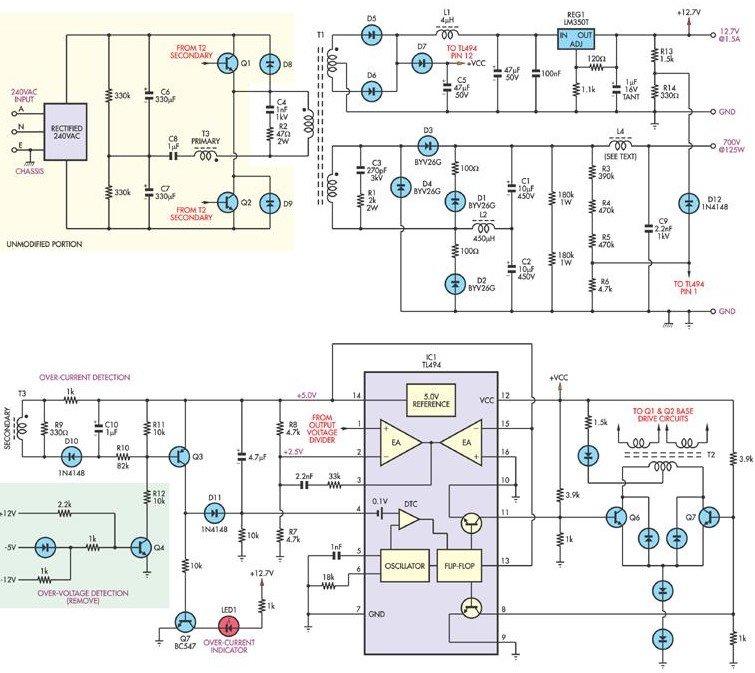 tube-amp-power-supply-700V-switch-mode-tl494