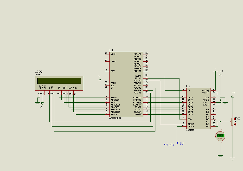 8051 adc0808 lcd display voltmeter electronics projects simple block diagram 8051 adc block diagram #8