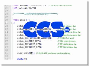 CCS C örnek uygulama devre kod arşivi (C ve Hex İsis)
