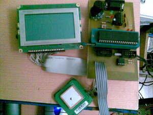 PIC18F452 GPS Grafik LCD uygulaması