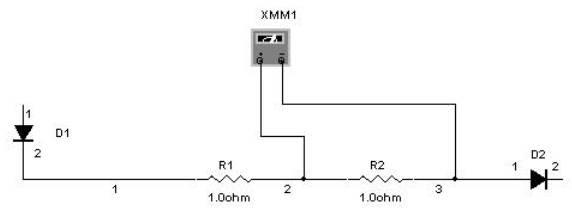 multisim Multimetre ohmmetre