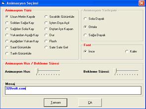 PIC18F452 Visual Basic Picbasicpro Kayan Yazı Panosu