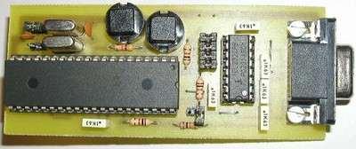 Microchip PIC16F877 Testing, Experiment Board 16f877mini bord kart rs232