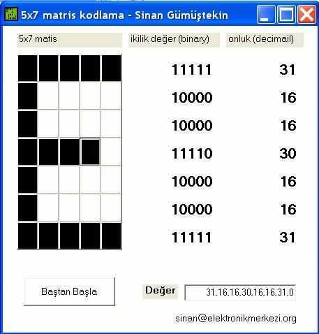 5x7-matris-kodlama