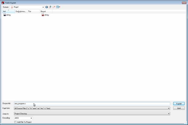 hitech picc save file dosya kayit