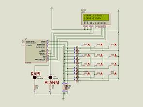 PIC16F628 Lcd Display Göstergeli Şifreli Kapı Kilidi