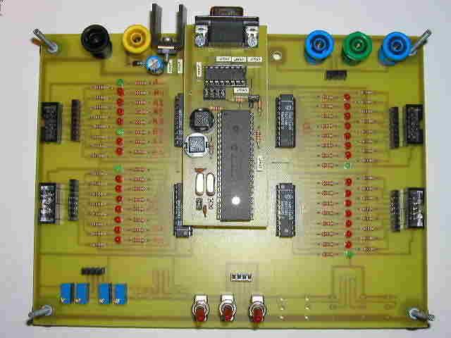 Microchip PIC16F877 Testing, Experiment Board pic16f877 deneme gelistirme kart bord