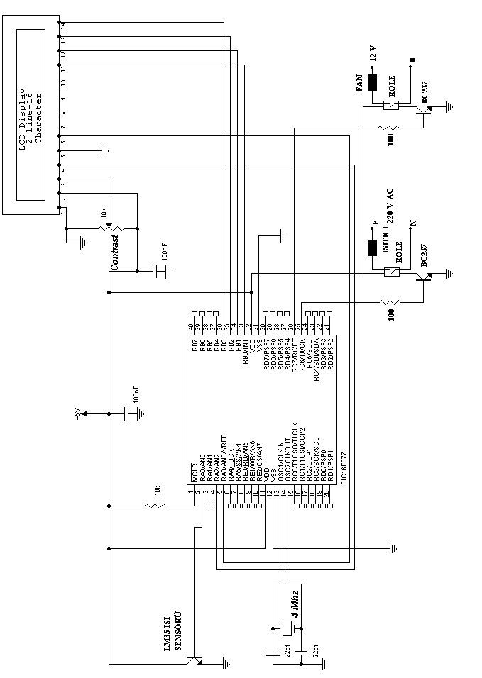 Basic Lm35 Temperature Sensor Circuit Circuit Schematic Electronics