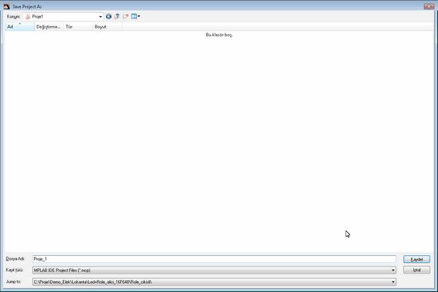 picc proje kayıt