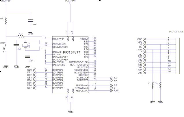 seri port  rs232  ile pic16f877 bilgi g u00f6nderme okuma