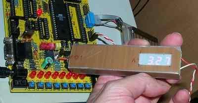 Atmel Atmega8 Multimeter Circuit (led display) 3volt olcumu