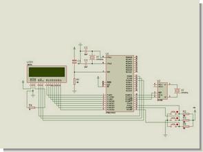 8051 RTC DS1302 ile LCD Gösterimli Dijital Saat