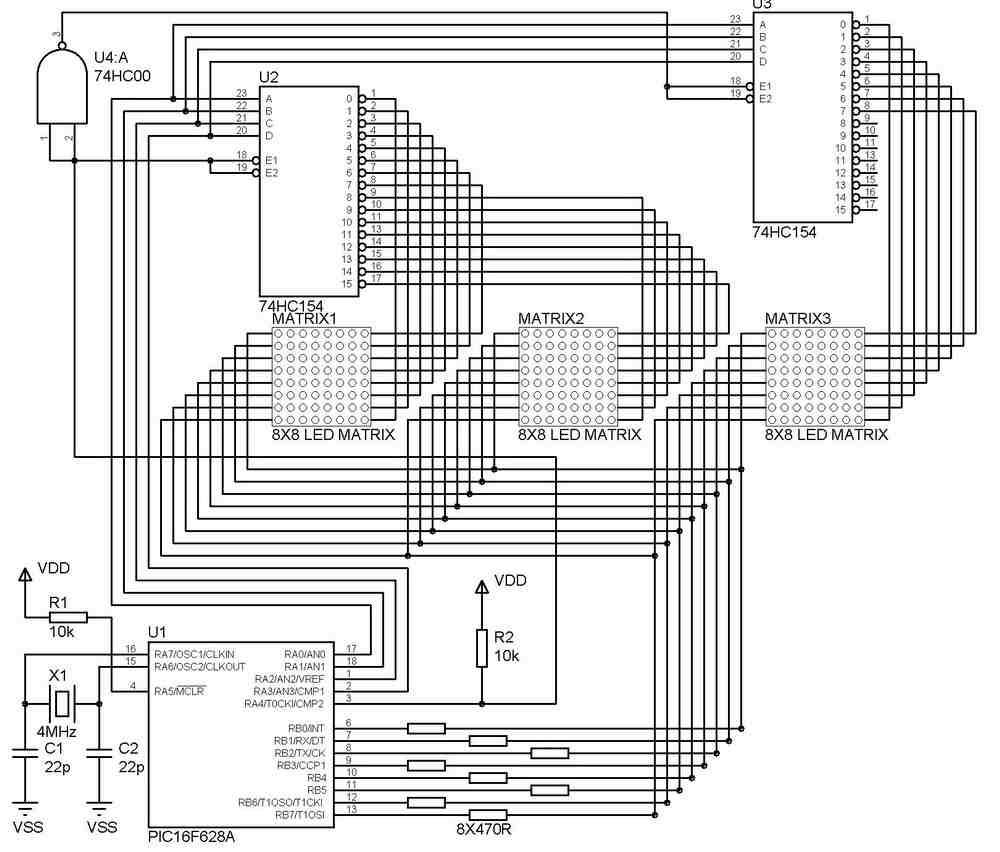 Pic18f452 Hakknda Bilgi C Dili Pic Uygulamalar Elektronik Pro Examples Proteus Isis Circuits Picbasic 120x120 Kayan Yazi Panosu Uygulama Devresi