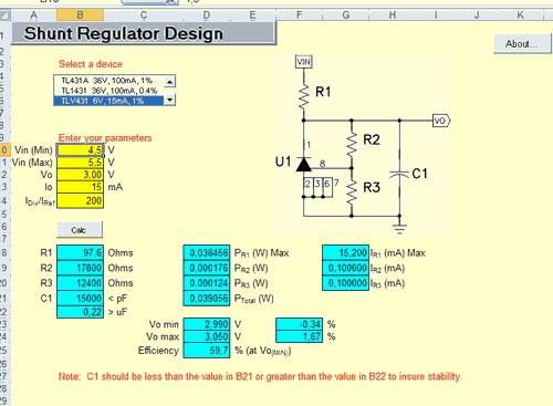 tl431-shunt-regulator-design-excel