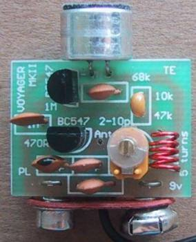 Simple FM Transmitter Circuit 9V 100 150m verici devresi pcb