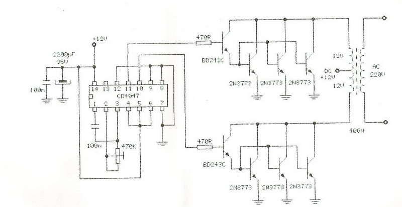 400W 12VDC 230VAC Konverter Ups Otomatik   arj     Elektronik