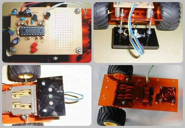 PIC16F84 Line Follower Robot Project cizgi izleyen robot flower robot