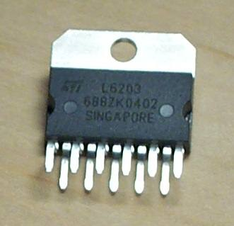 L6203 L297 H Bridge Stepper Motors Driver Circuit l6203 dmos full bridge driver
