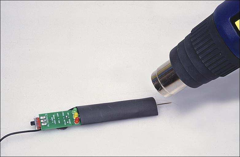 Simple Logic Probe Circuit with LED Indicator Level Measurement  CD4001 daralan makaron devre kaplama