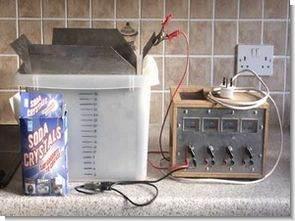Elektroliz elektrik sodyum karbonat pas temizleme