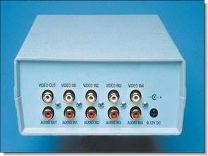 Güvenlik kameraları için 4 kanal ses video seçici