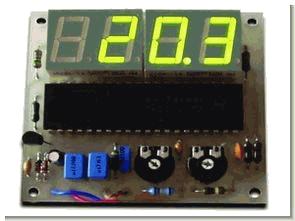 ICL 7107 Dijital termometre devresi (sensör bc547b)