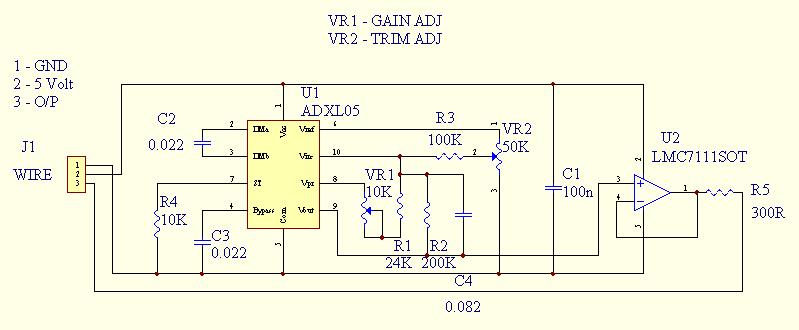 ADXL05 Diğital Inclinometer Circuit PIC16F84 - Electronics Projects Circuits320volt.com