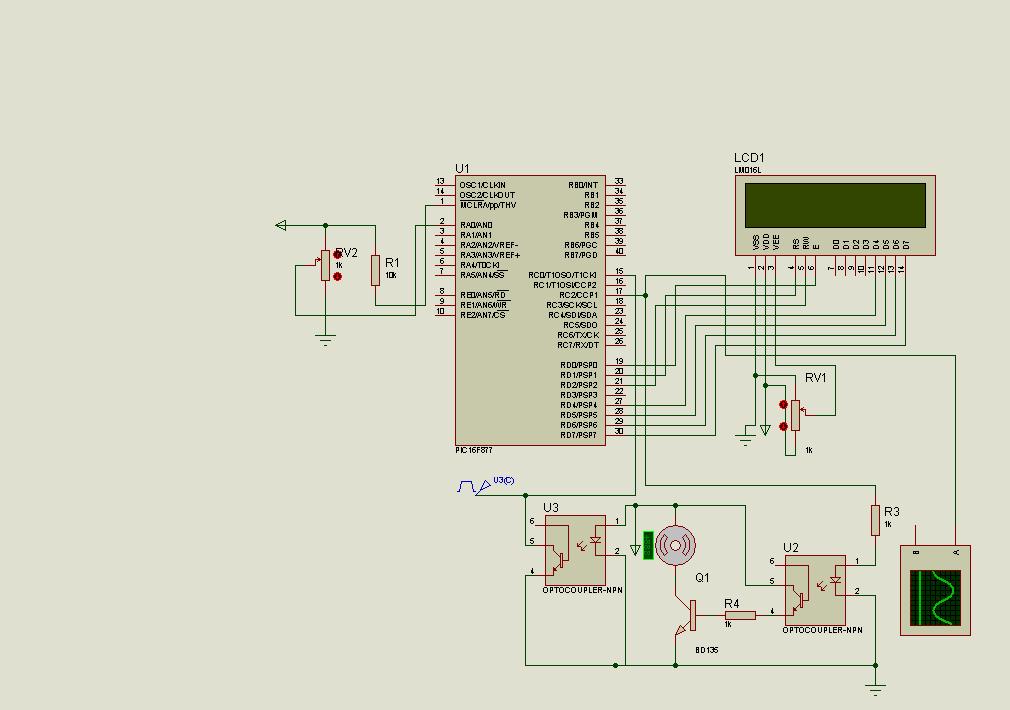 pic16f877 lcd motors speed indicator encoder circuit. Black Bedroom Furniture Sets. Home Design Ideas
