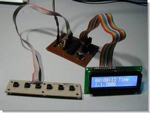 PIC18F2455 ile lcd göstergeli tarih saat c dili