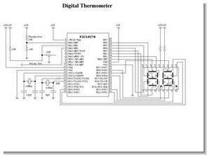 PIC16C74 NTC Termistör İle Termometre Devresi