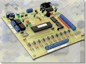 PIC16F877 seri I/O kontrol analog sampler plc sistem
