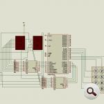 8051 Microcontroller  Up Down Counter Circuit (keil) program denetleyiciler 8051 labaratuar projesi 150x150