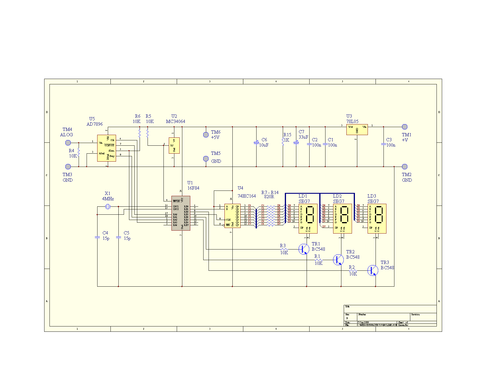 ADXL05 Diğital Inclinometer Circuit PIC16F84 project accomplishes analog  devices adxl05 accelero meter 150x150 ...