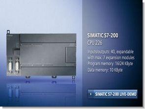 Siemens s7-200 serisi cpu226 plc akıllı ev otomasyonu