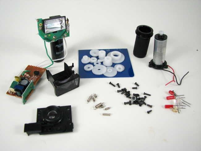 Digital camera flash, continuous light modified dijital kamera parcalari