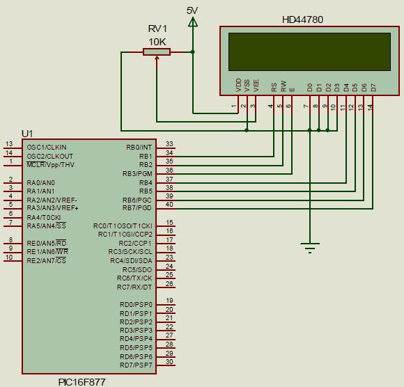 pic16877-lcd-baglantisi-4-bit-modu