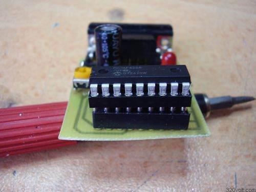 pic16f628-soket-aparat-modifikasyon-yerlesim