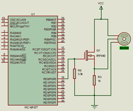 picc-servo-motor-surucu-mosfet-pic16f877