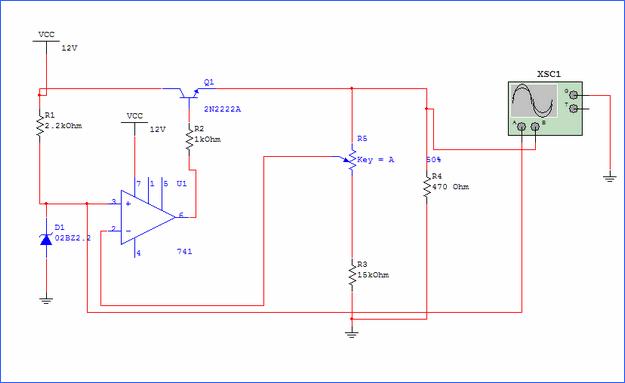 seri-transistorlu-sabit-op-amp-voltaj-regulatoru-devresi