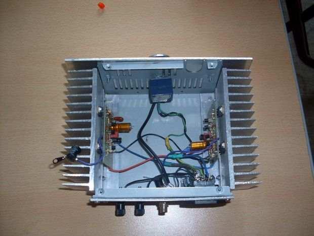 100 Watts MOSFET Amplifier Project 100w mosfet amfi kasa ic gorunum