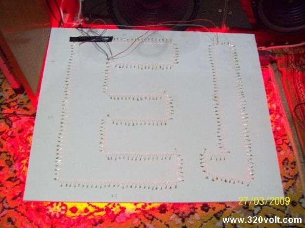 Transformerless LED Sign Project 296 led tamamlamis hali test 2