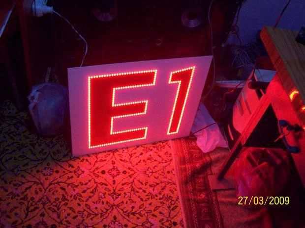 Transformerless LED Sign Project 296 led tamamlamis hali test
