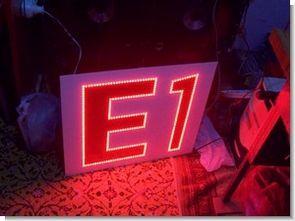 296 Adet Kırmızı led ile apartman blok yazısı E1