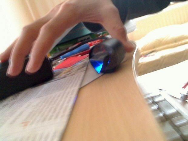 Color Sense Circuit LCD PIC16F877 Picbasic Pro mavi isik
