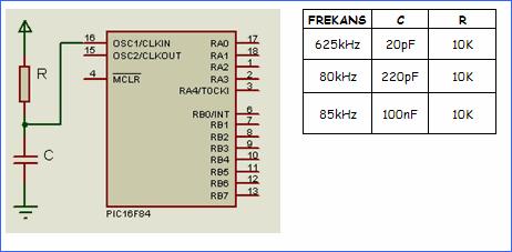 proton-ornek-devre-pic16f84-rc-osilator